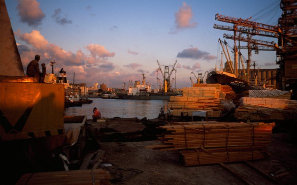 A kind of beauty; the port at Alexandria, Egypt, 1998. Photo by Stuart Franklin/Magnum