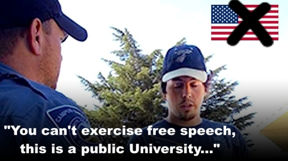 A perfect video training guide for how to violate a student's constitutional rights
