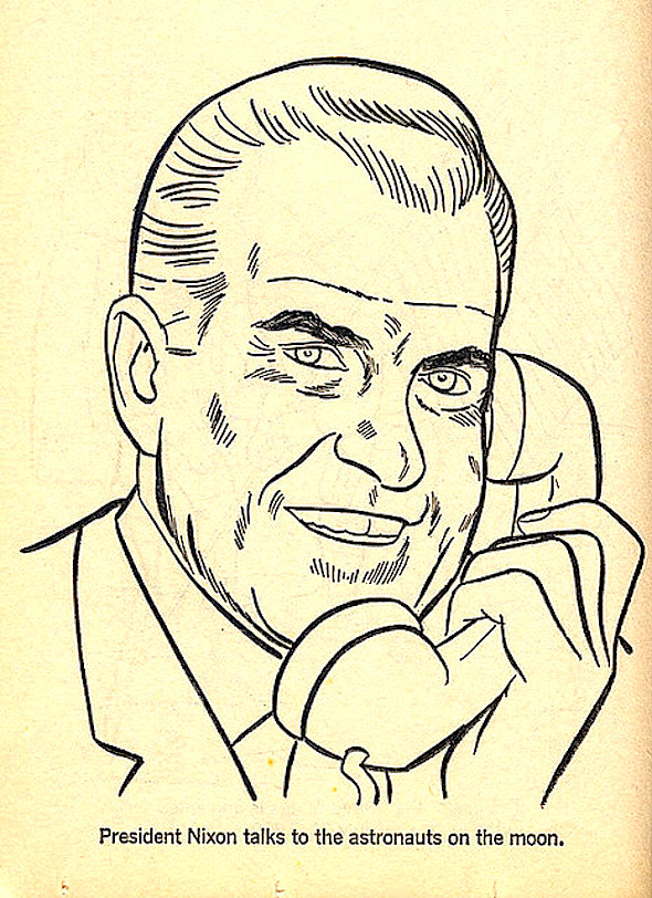 Vintage Coloring Book Illustration Of The Day