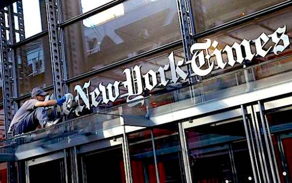 The New York Times' editorial page is not exactly beloved by staffers, according to a New York Observer report. (AP Photo/Mark Lennihan)