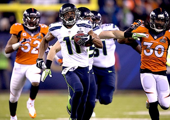 Percy Harvin proved worth the wait in Super Bowl XLVIII. (John W. McDonough/SI)