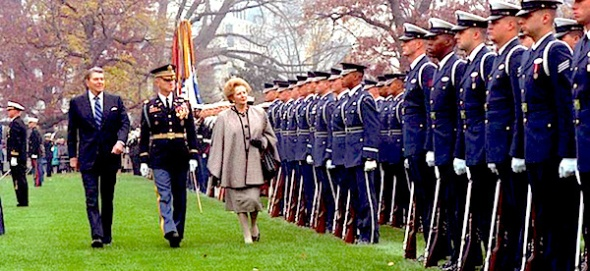 Margaret Thatcher arrives in Washington, November 1988 (courtesy Ronald Reagan Library)