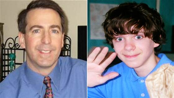 Peter Lanza, left, has spoken out for the first time since the murders committed by his son Adam, right.  TODAY; Getty Images