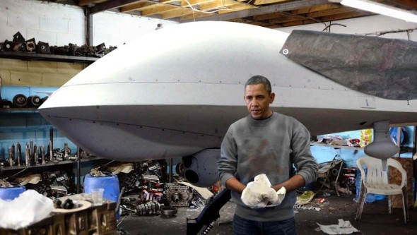 President Obama says he can't wait to take the custom rebuilt drone out for a spin.