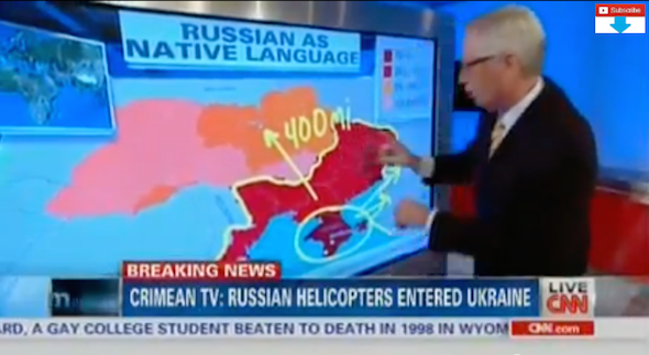 """""""See this yellow line, around this really big red place? This is the Russian border..."""""""