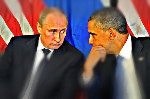 "President Obama is seen talking with Russian President Vladimir Putin, left, in 2012. More than 95% of Crimeans voted for the Ukrainian region's accession to Russia in a controversial referendum on March 16, according to preliminary results. The White House said that Obama told his Russian counterpart that the U.S. would not recognize the Crimean vote as it violated the Ukrainian constitution and that the US was ""prepared to impose additional costs on Russia for its actions."" (RiaNovosti / EPA / March 17, 2014)"