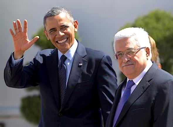 President Barack Obama with PA Chairman Mahmoud Abbas