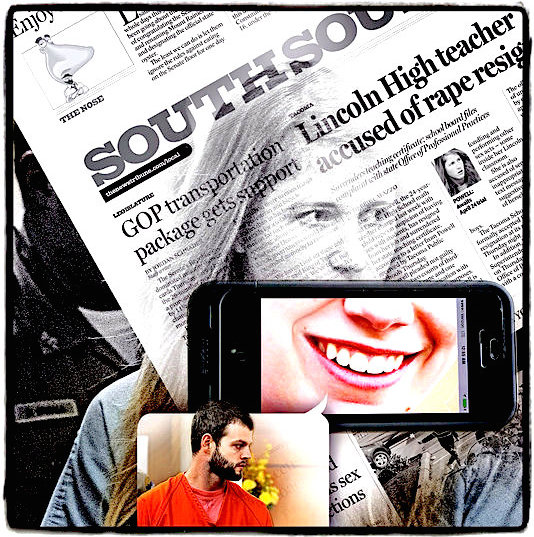 Technology and social media feature prominently in the sexual misconduct allegations against Meredith Powell, top, and Michael E. Allen. News Tribune Staff Photo Illustration