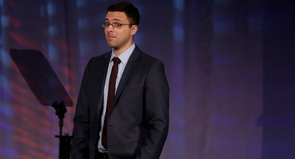 Journalist, columnist, and blogger Ezra Klein speaks about President Barack Obama's signature health care law at the Families USA's 19th Annual Health Action Conference in Washington, Thursday, Jan. 23, 2014. (AP Photo/Charles Dharapak)