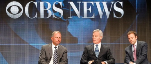 Jeff Fager (L), chairman CBS News and executive producer '60 Minutes', Scott Pelley, anchor and managing editor CBS Evening News and David Rhodes (R) president CBS News, speak at the CBS Television Network's 2011 Summer Television Critics Association Press Tour in Beverly Hills, California August 3, 2011. REUTERS/Fred Prouser (UNITED STATES - Tags: ENTERTAINMENT BUSINESS) - RTR2PL1B