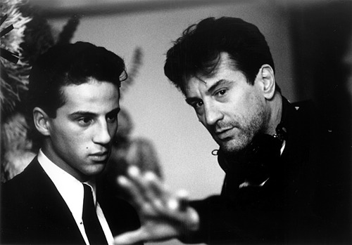 "993 - Robert De Niro directs Lillo Brancato in ""A Bronx Tale."" - Photo By Phillip Caruso/Savoy Pictures"