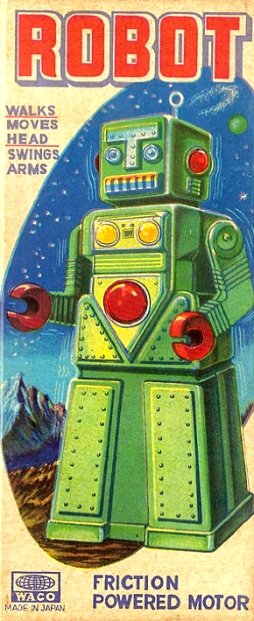 Vintage Japanese Sci Fi Robot Toy Image Of The Day Battery Operated