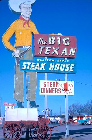 Historic photo from the Big Texan archive