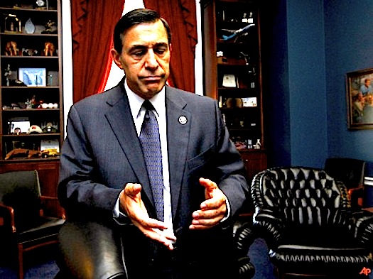 Rep. Darrell Issa, R-Calif., speaks to an Associated Press reporter in his office on Capitol Hill in Washington, Tuesday, Sept. 21, 2010. Issa who has assumed the role of President Barack Obama's chief antagonist in Congress will become head of the House's main investigating committee and gain even more stature as an administration critic who has to be reckoned with if his Republican party takes power in next month's elections.   (AP Photo/Manuel Balce Ceneta)