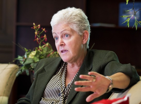 Manuel Balce Ceneta, File/Associated Press -  FILE - In this Aug. 2, 2013, file photo, Environmental Protection Agency Administrator Gina McCarthy speaks to the Associated Press during an interview at her office in Washington.