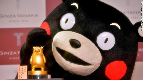 kumamon-gold-statue
