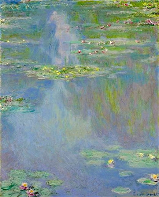 "Claude Monet's ""Water Lilies"" from the Huguette Clark collection.  (AP Photo/Christie's)"