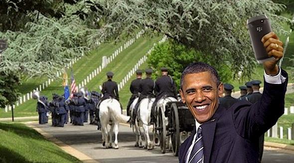 obama-selfie-vet-funeral-obama
