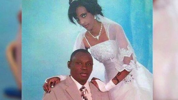Meriam Yehya Ibrahim Ishag pictured on her wedding day with her husband Daniel Wani Meriam Ibrahim has been sentenced to 100 lashes as well as death by hanging