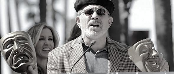 Writer and director David Mamet speaks about actors Felicity Huffman and her husband William H. Macy at the Hollywood Walk of Fame