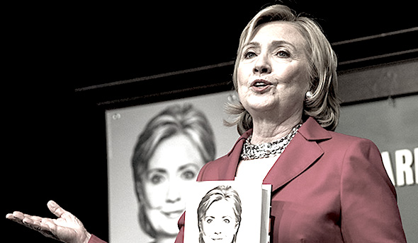 Hillary touts her book in New York City (Andrew Burton/Getty Images)