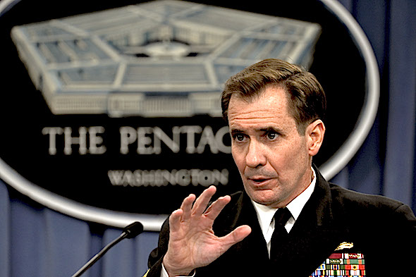 Hagel's press secretary, Rear Adm. John Kirby