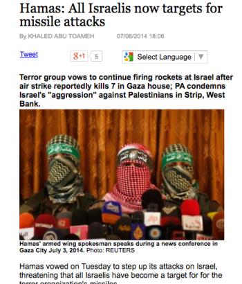 hamas-threats