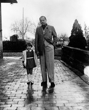 Audrey, age 4, with her father