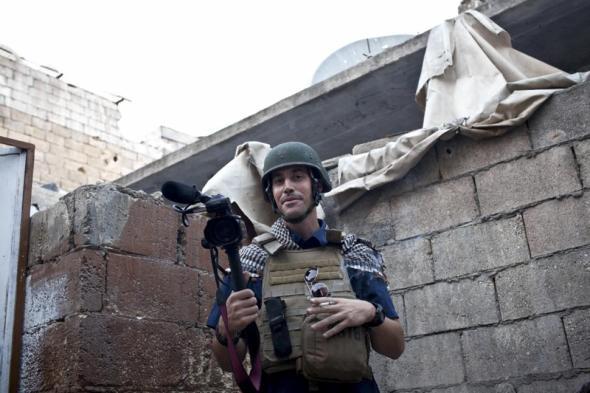Nicole Tung/ASSOCIATED PRESS Foley reporting in Aleppo, Syria, in November 2012.