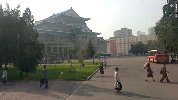 This is the oldest theater in Pyongyang built after the Korean war, a time of rapid growth for North Korea.
