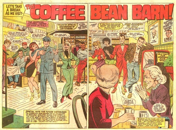 'The Coffee Bean Barn' by Larry Lieber from Amazing Spider-Man Annual #4, 1967