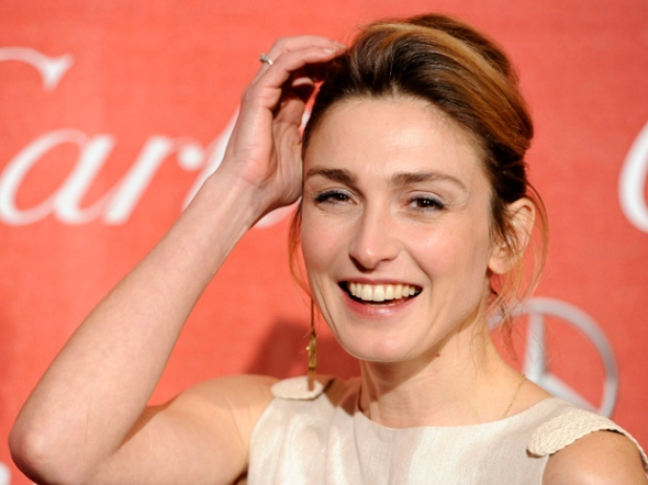 French actress Julie Gayet poses at the 2012 Palm Springs International Film Festival Awards Gala, in Palm Springs, Calif