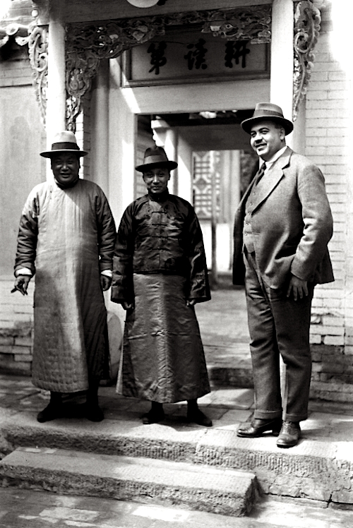 Austrian arms trader Bruno Mueller seen with Chinese business partners in a photo taken in 1924 by his wife Lucy.