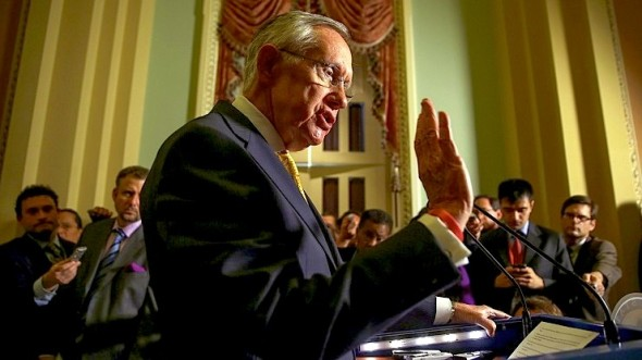 Senate Majority leader Harry Reid, nearing retirement, is reportedly using LSD regularly. Pictured here is one of Reid's drug-inspired pause to study his own hand during a floor speech