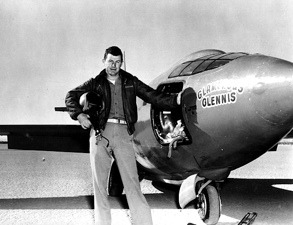 Capt. Charles E. Yeager and Bell X-1 - Portrait