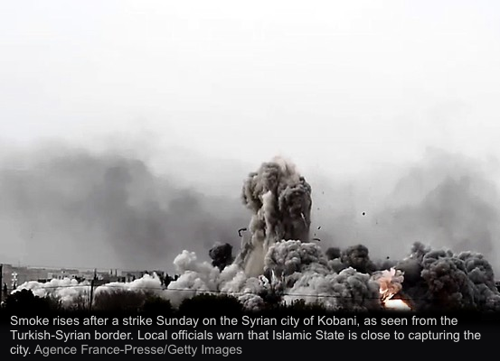 kobani-smoke-wsj-getty-afp