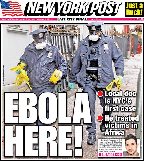 NYPOST-Ebola-Here!
