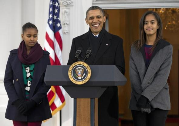 Evan Vucci/ASSOCIATED PRESSIt remains to be seen if President Obama (with daughters Sasha, left, and Malia) will continue staying at the Waldorf's presidential suite during his trips to New York City.