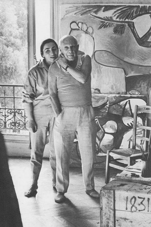 Pablo-Picasso-and-Jacqueline-Roque
