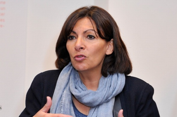 French Mayor Anne Hidalgo Meets Young French Designers In Paris