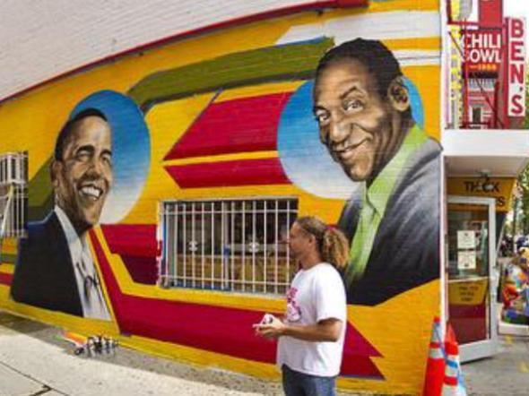 cosby-obama-mural