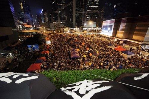 The 'Umbrella Revolution' rallies together again after the October 21 talks