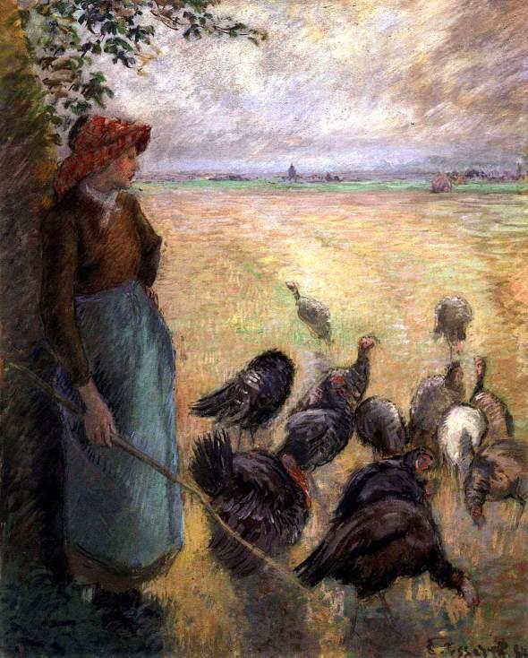 PISSARRO, Camille Turkey Girl 1884 Tempera on paper, 81 x 65 cm Museum of Fine Arts, Boston