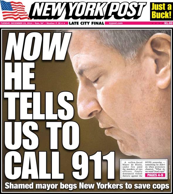 NYPost-De-blasio-911