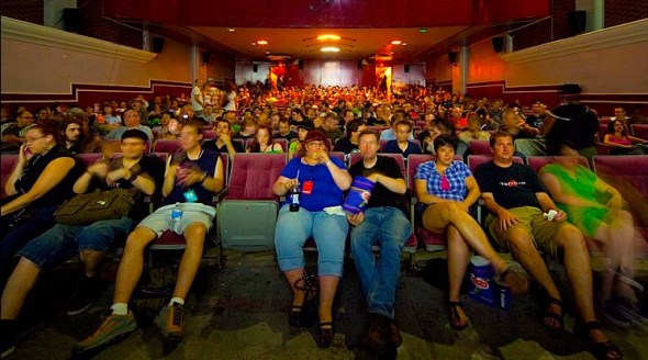 a movie audience