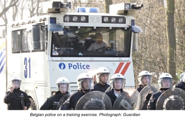 Belgian-police-on-a-train