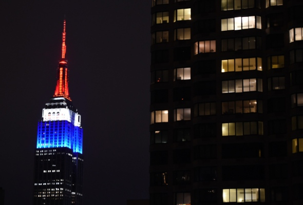 US -EMPIRE STATE BUILDING-CHARLIE HEBDO