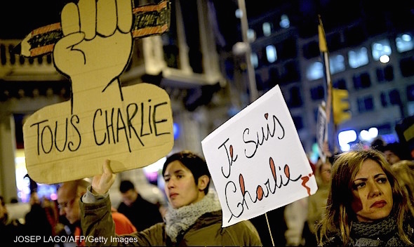 SPAIN-FRANCE-ATTACKS-CHARLIE-HEBDO