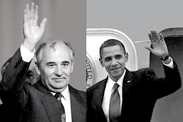gorba-obama-bw