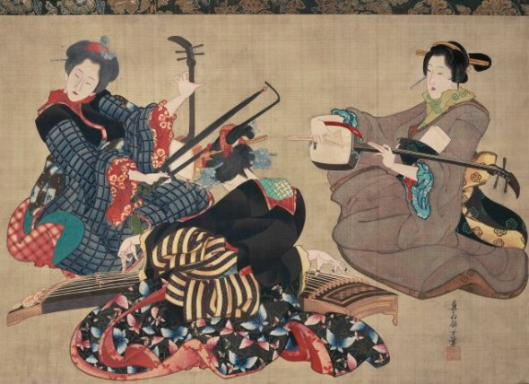 Three Women Playing Musical Instruments, (1818-44). (Photo: MFA Boston)